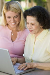 Senior receiving Information and Advocacy Services